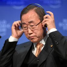UN Secretary-General Ban Ki Moon calls for an international commitment for NCDs