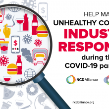 Mapping unhealthy commodity industries' responses to COVID-19