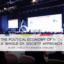 PMAC2019: the political economy of NCDs - A call to a whole of society approach
