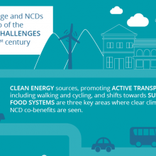 New policy brief on climate change and NCDs launched today