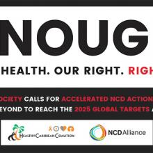 14 CARICOM Heads say #EnoughNCDs and commit to walk the talk to the UN HLM on NCDs