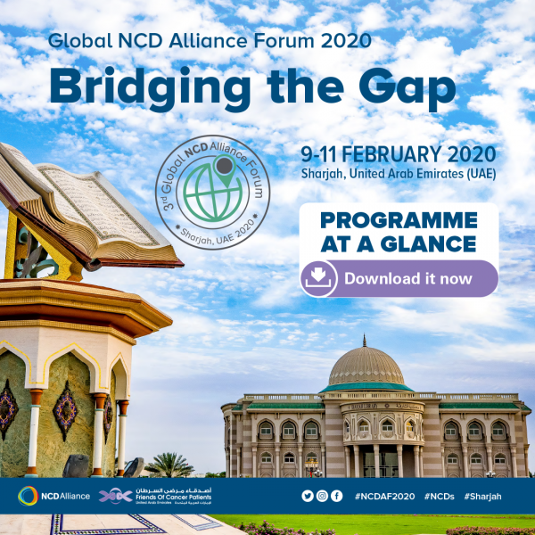 Global NCD Alliance Forum 2020 - Programme at a Glance