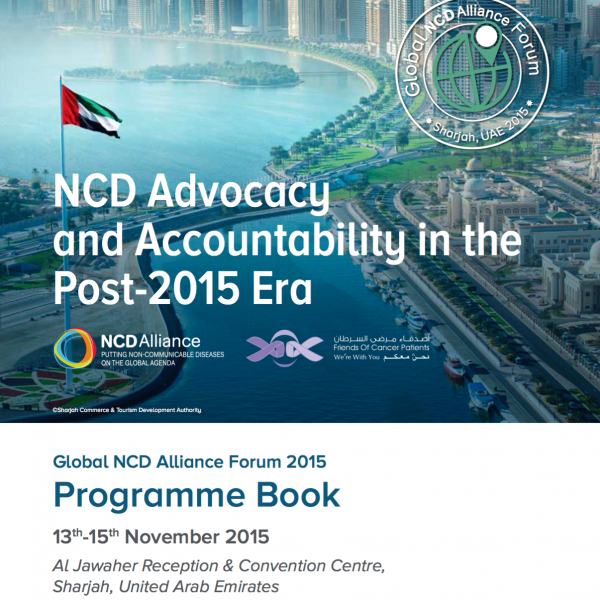 NCDA Global Forum 2015 programme cover