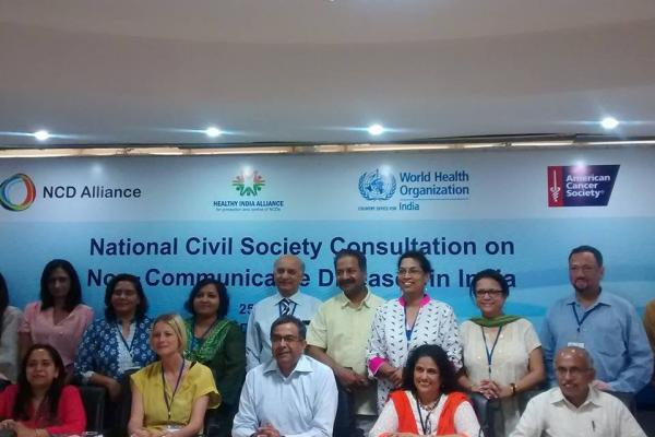 Members of Governing board of Healthy India Alliance@first National consultation held in Delhi (© Acudetox Asia)