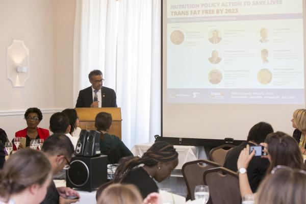Dr Tedros Adhanom Ghebreyesus, WHO Director General, speaking at the event