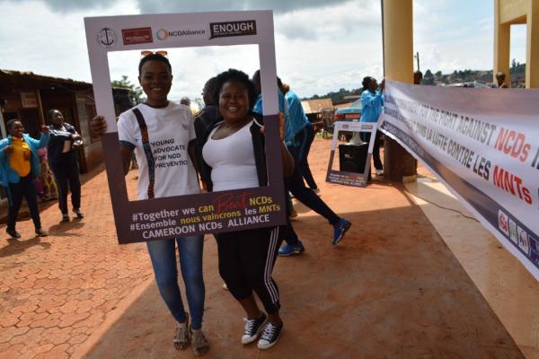 Cameroon Civil Society NCD Alliance mobilised youth and PLWNCDs during the 2019 Week for Action on NCDs