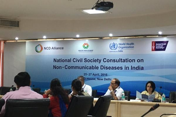 Launch of the Healthy India Alliance, a national alliance uniting NCD CSOs in joint advocacy