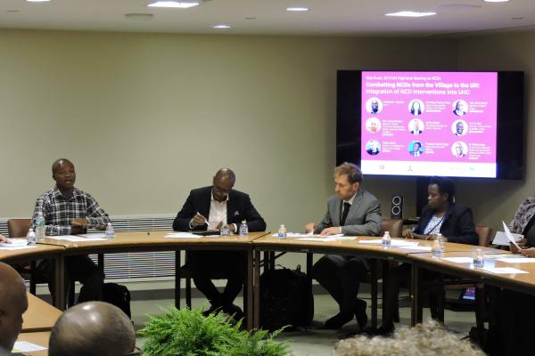Edward Ligondo speaks of his experience of stroke care in Kenya during Combatting NCDs from the Village to the UN_HLM3 Side event
