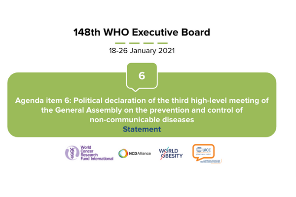 Joint statement at the 148th session of the WHO Executive Board on Agenda item 6