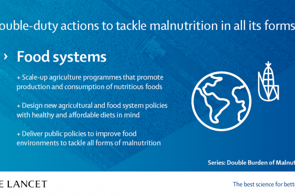 Manifesto on the Double Burden of Malnutrition | The Lancet - Food systems