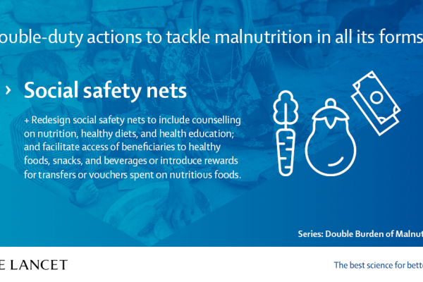Manifesto on the Double Burden of Malnutrition | The Lancet - Social safety nets