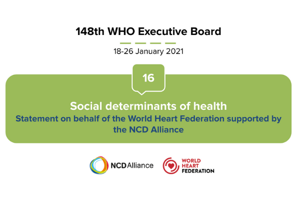 Joint statement at the 148th session of the WHO Executive Board, January 2021 Agenda item 16. Social determinants of health (Document EB148/24)