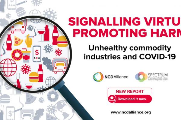 New report details hundreds of examples of unhealthy commodity industries leveraging the COVID-19 pandemic