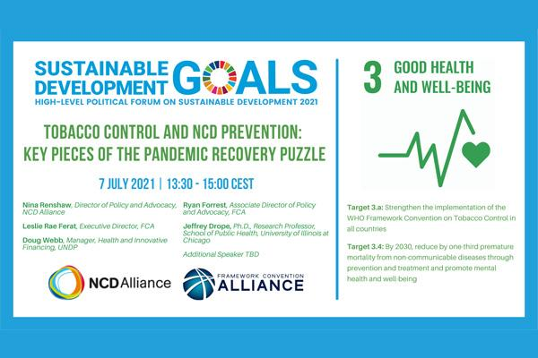 HLP Event flyer on tobacco control and NCDs