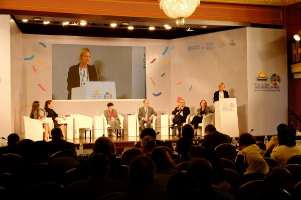 NCD Alliance CEO Katie Dain speaking at the WHO Global Conference on NCDS, Montevideo, Oct. 2017