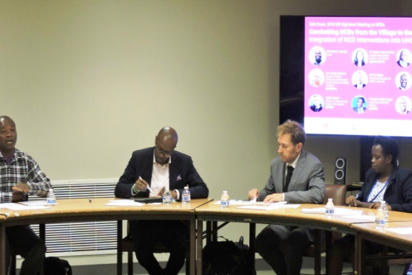 Mr Edward Konzolo shares his story at a side event at the UN High-Level Meeting on NCDs, at UN Headquarters, New York, Sept. 2018 Mr Edward Konzolo shares his story at a side event at the UN High-Level Meeting on NCDs, at UN Headquarters, New York, Sept. 2018 © Kenya NCD Alliance