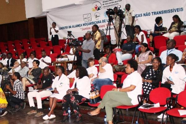 The audience at the launch of the Mozambique NCD Alliance, on 30 November 2018.