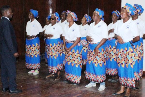 A choir performs at the launch of the Mozambique NCD Alliance, on 30 November 2018.
