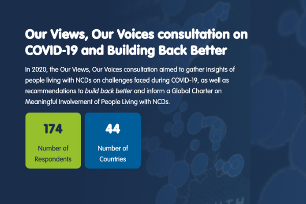 Results of NCDA's Global Consultation with people living with NCDs