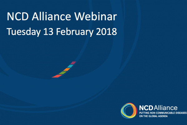 NCD Alliance Webinar, 13 February 2018