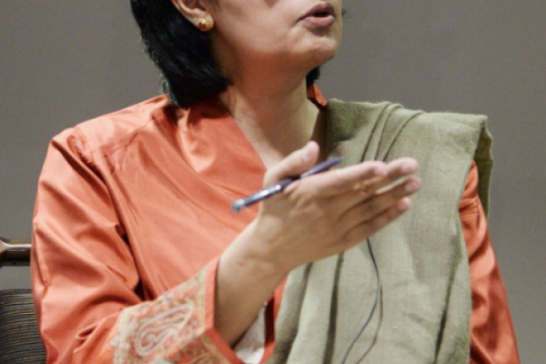 Dr Sania Nishtar speaks at an NCD Alliance event, September 2014, New York