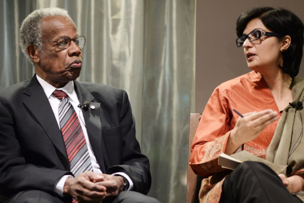 Sir George Alleyne and Dr Sania Nishtar at an NCD Alliance event. September 2014, New York