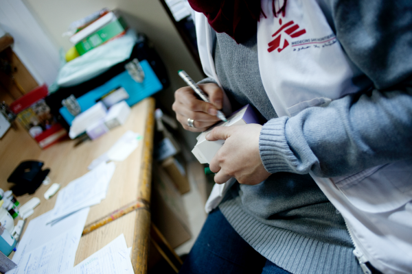 MSF Pharmacy. © N'gadi Ikram / Courtesy of MSF