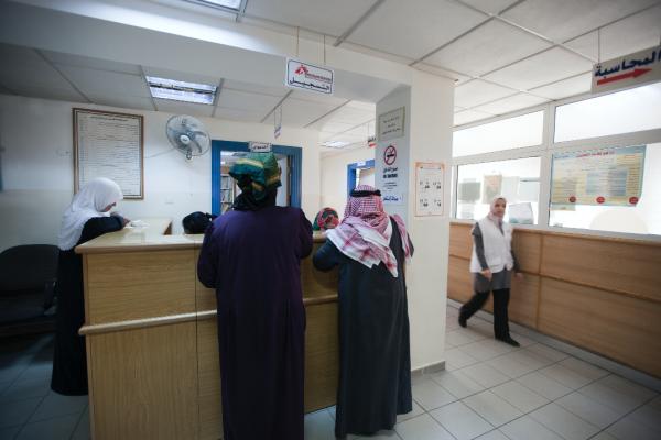 MSF registration desk inside the clinic. © N'gadi Ikram / Courtesy of MSF
