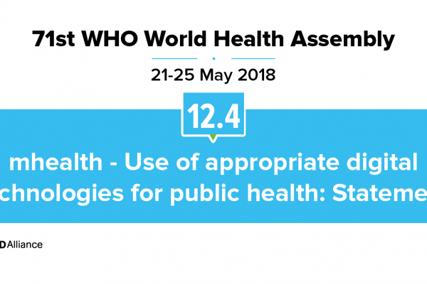 71st WHO WHA Statement on Item 12.4 mHealth: Use of appropriate digital technologies for public health