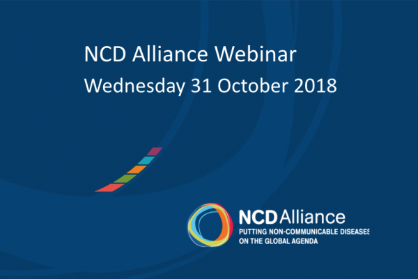 NCD Alliance Webinar, 31 October 2018