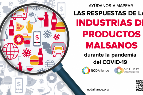 Ayudanos a mapear la respuesta de las industrias de productos no saludables al COVID-19