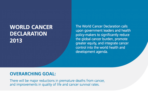 Launch of new World Cancer Declaration