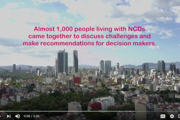 Videos share the story of people living with NCDs